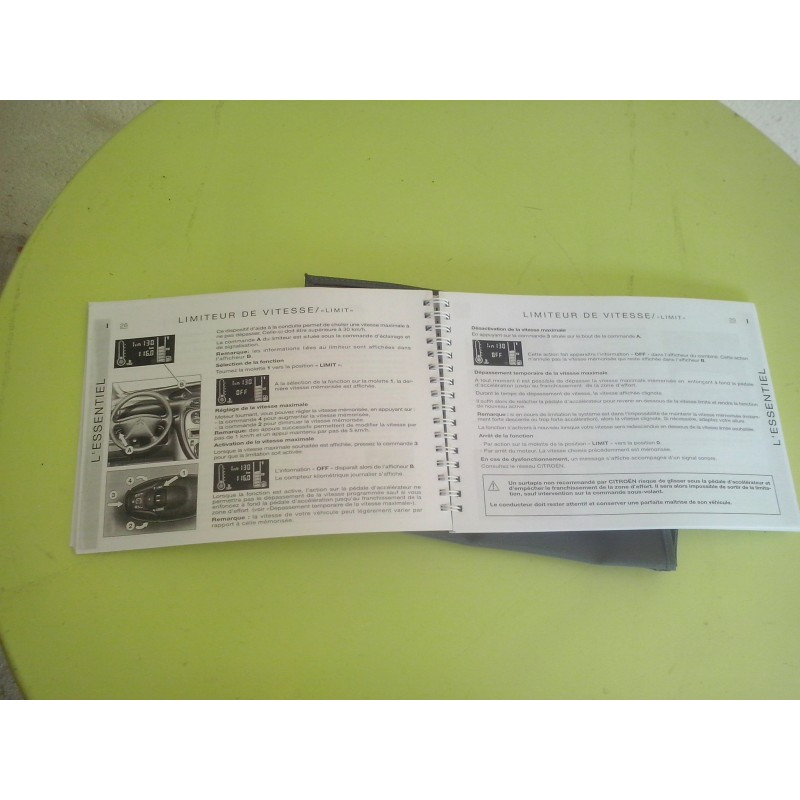 manuel d utilisation carnet de bord xsara picasso tbe. Black Bedroom Furniture Sets. Home Design Ideas