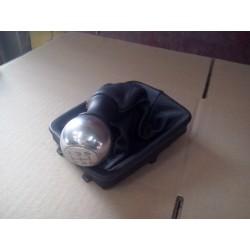 206 X BOX commande de vitesse pommeau de vitesse ALU ET SOUFLET CUIR couture xbox
