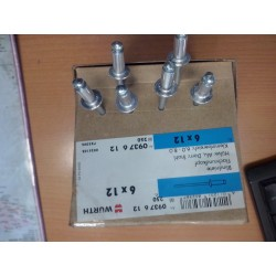 LOT 6 RIVETS POP WURTH  aluminium  6X12mm  POUR  FIXATION LEVE VITRE  PSA
