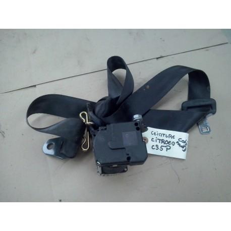 citroen c3  ceinture de securite avant droite couleur gris foncee / noir  parfait etat de 2002 a 2009
