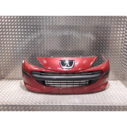 peugeot 207 PARE CHOC bouclier AVANT couleur  rouge metal de 2007 ref  7401  7401EN  vendu complet  SANS AB