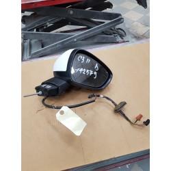CITROEN C3  c3 PHASE 2 retroviseur  droit electrique depuis 2009  coque  blanche tbe sans option rabat electrique ref   8154AR